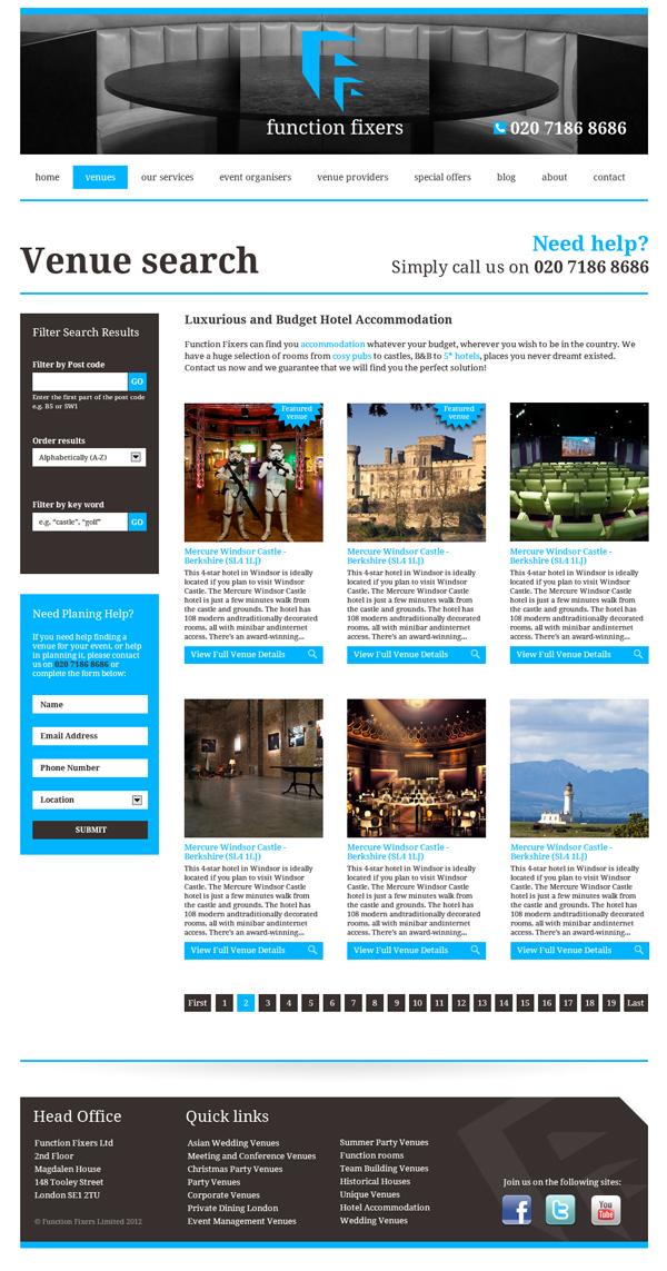 Function Fixers website design