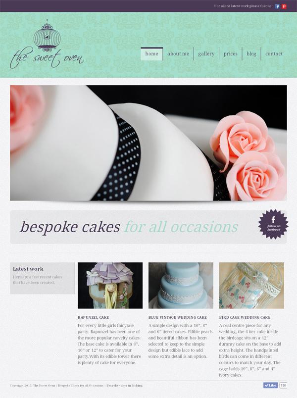 The Sweet Oven website design